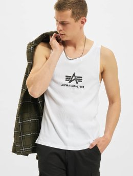 Alpha Industries Tank Tops Logo hvid