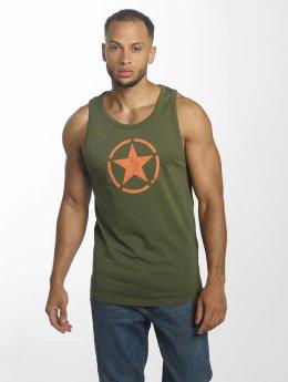 Alpha Industries Tanktop Star groen