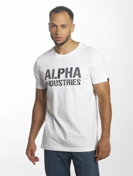Alpha Industries Tričká Camo Print biela