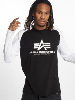 Alpha Industries Tričká dlhý rukáv Basic èierna