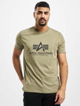 Alpha Industries Tričká Basic olivová