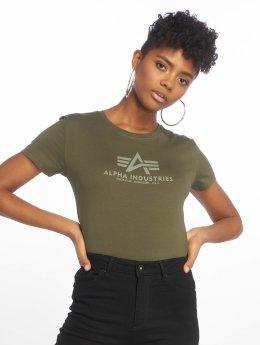 Alpha Industries Tričká Logo zelená