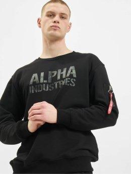 Alpha Industries trui Camo Print zwart