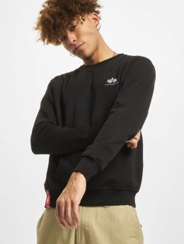 Alpha Industries trui Basic Small Logo zwart