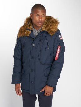 Alpha Industries winterjas Polar blauw