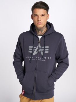 Alpha Industries Zip Hoodie Basic blå