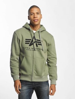 Alpha Industries Zip Hoodie Basic  oliven