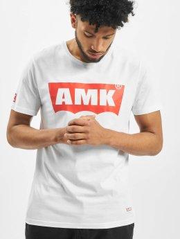 AMK T-paidat Wave valkoinen