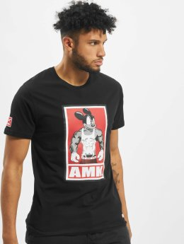 AMK t-shirt Muscle Mouse zwart