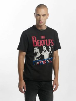 Amplified Camiseta The Beatles Liverpool negro
