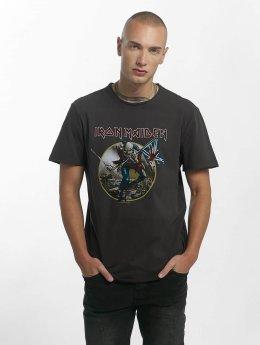 Amplified T-paidat Iron Maiden Trooper harmaa