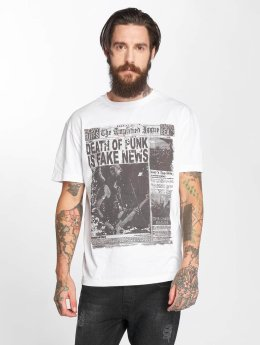 Amplified T-Shirt Punk Newspaper blanc