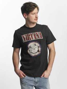 Amplified T-Shirt Nirvana Colour Smiley grau