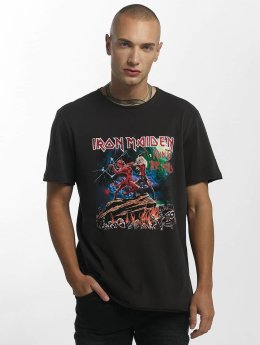 Amplified Männer T-Shirt Iron Maiden Run To The Hills in grau