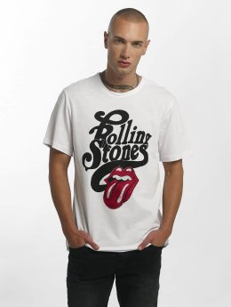 Amplified Männer T-Shirt The Rolling Stones Licked in weiß