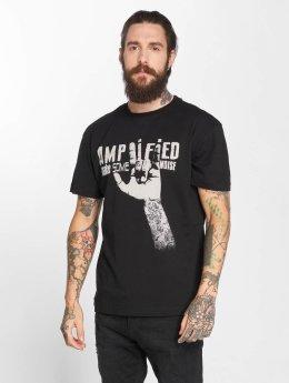 Amplified t-shirt Devil Horns zwart