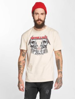 Amplified T-shirts Metallica Birth School beige