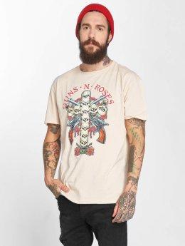 Amplified T-skjorter Guns N Roses Skull Cross beige