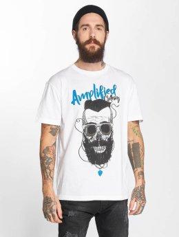 Amplified T-skjorter Bearded Skull hvit
