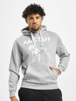 Amstaff Felpa con cappuccio Logo grigio