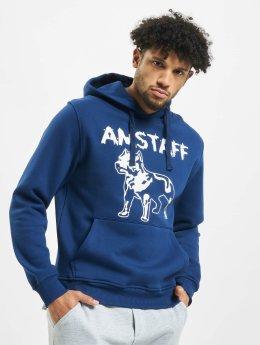 Amstaff Hoodies Logo blå