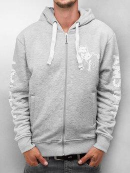 Amstaff Sweat capuche zippé Logo gris