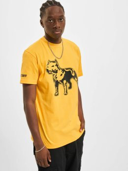 Amstaff t-shirt Logo geel