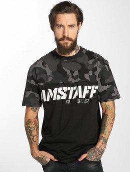 Amstaff T-skjorter Fargos svart
