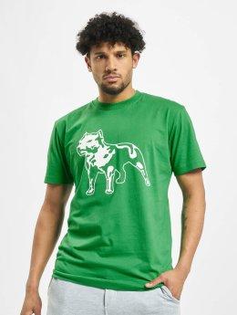 Amstaff Tričká Logo zelená