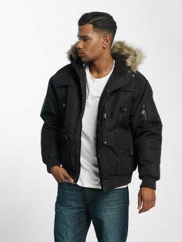 Amstaff Winterjacke Fur schwarz