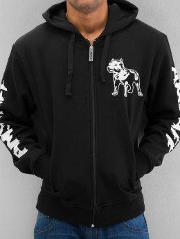 Amstaff Zip Hoodie Logo schwarz