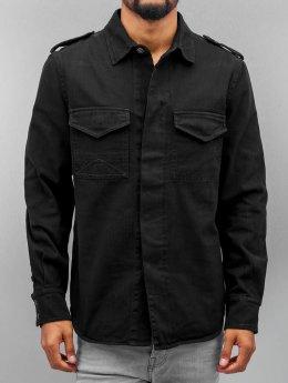 Amsterdenim overhemd Tinus zwart