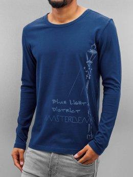 Amsterdenim Pitkähihaiset paidat Nelis sininen