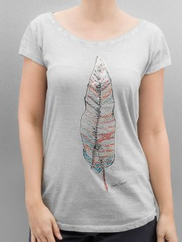 Authentic Style T-shirt Feather grigio