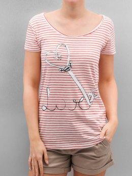 Authentic Style T-shirt Fresh Made Stripe rosa chiaro