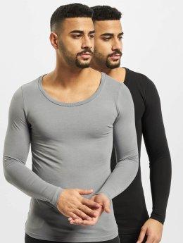 Bangastic Camiseta de manga larga Basic gris