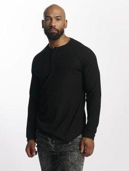 Bangastic Camiseta de manga larga Ripped negro