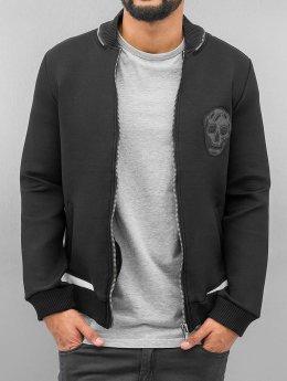 Bangastic Skull Zip Sweat Jacket Black