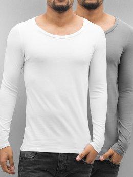 Bangastic Maglietta a manica lunga Basic bianco