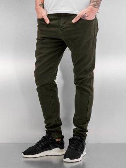 Bangastic Slim Fit Jeans Burundi olivový