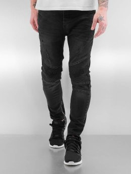 Bangastic Slim Fit Jeans Quilted II zwart