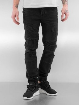 Bangastic Slim Fit Jeans Quilted III zwart