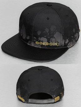 Bangastic snapback cap Flower zwart