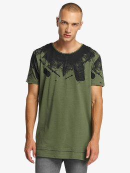 Bangastic t-shirt Splash olijfgroen