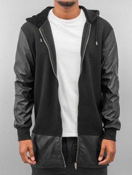 Bangastic Zip Hoodie long leather black