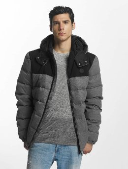 Bench Lightweight Jacket Wool Look Down gray