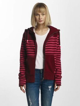 Bench Sweat capuche zippé Striped rouge