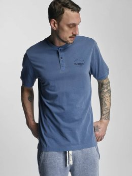 Bench T-Shirt Henley blau