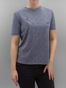 Bench T-Shirt Sequin Embroidery bleu