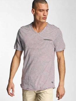 Bench T-Shirt V Neck rouge